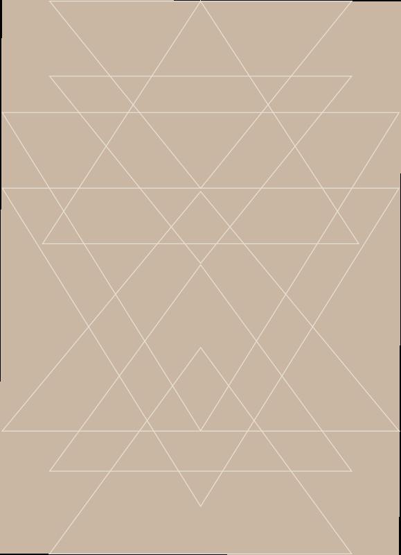 TenStickers. Triângulos nórdicos mosaico vinil piso. Um tapete de vinil com padrão geométrico marrom simples para adicionar um visual encantador ao seu espaço. Disponível em um tamanho personalizado necessário e fácil de manter.