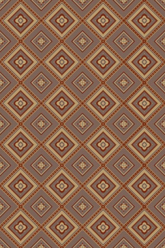 TenVinilo. Alfombra vinilo mosaico azulejos marrones. Compre esta alfombra vinílica mosaico de patrón marrón con garantía de usarla durante mucho tiempo ¡Realmente fácil de mantener!