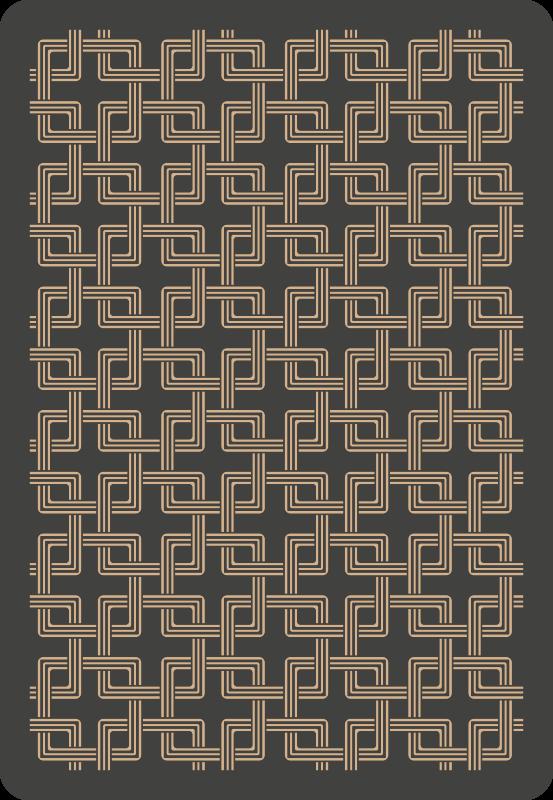 TenVinilo. Alfombra vinílica mosaico cuadrados encadenados. Increíble alfombra vinílica mosaico de cuadrados encadenados en tonos marrones para decorar cualquier estancia ¡Elige tus medidas!