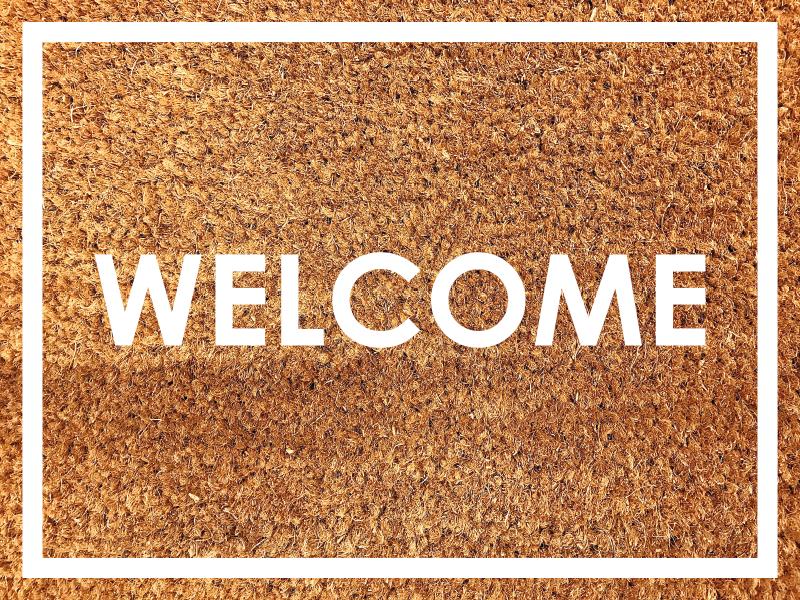 """TenVinilo. Alfombra vinilo texturas de bienvenida. ¡Deje que todos se sientan bienvenidos en su casa con esta alfombra vinilo texturas con texto """"bienvenido"""" en inglés! ¡Envío exprés!"""