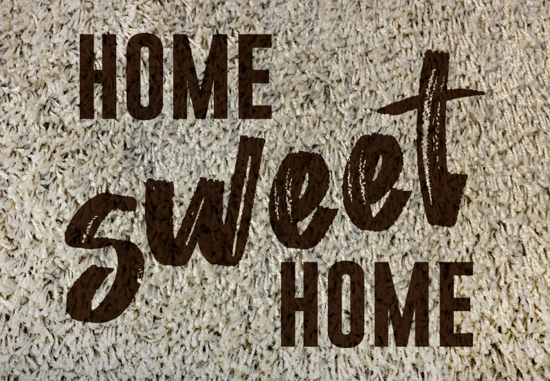 """TenVinilo. Alfombra vinilo texturas hogar dulce hogar. Alfombra vinilo texturas con texto """"Hogar dulce hogar"""" con un diseño exclusivo para sentirte en casa desde la entrada ¡Envío exprés!"""