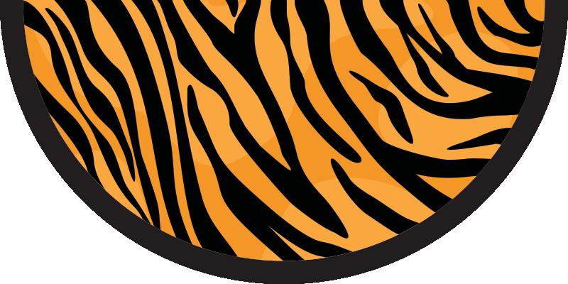 TenVinilo. Alfombra vinilo animal print piel de tigre. Increíble y colorida alfombra vinilo animal de tigre de perfecta para tu sala de estar, dormitorio o entrada de casa ¡Envío exprés!