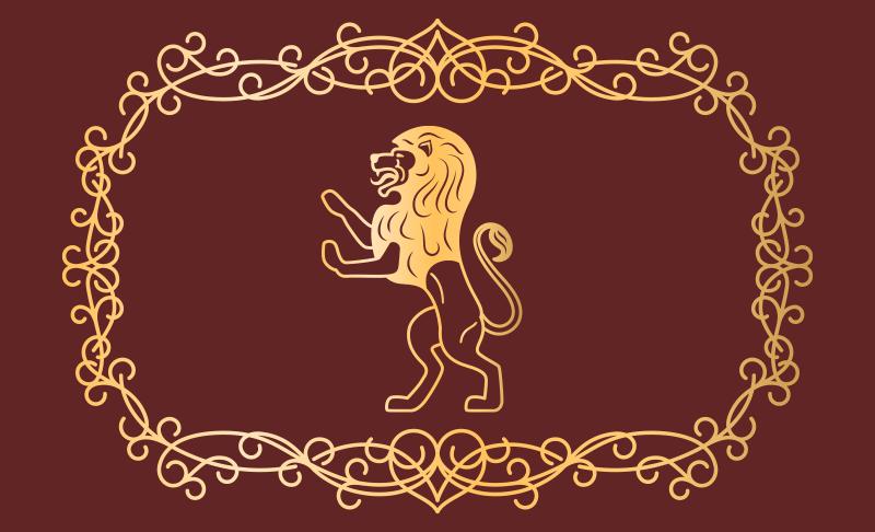 TENSTICKERS. ペルシャライオンデザインアニマルプリントカーペット. この完璧で古典的なペルシャのライオンのデザインのアニマルプリントカーペットの滑り止めがあり、お手入れが簡単です。今買う!宅配!