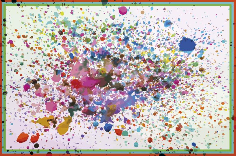 TenVinilo. Alfombra vinilo moderna explosión splash. Alfombra vinilo moderna con colores splash perfecta para suelos modernos. Ideal para salón, comedor o dormitorio ¡Envío exprés!