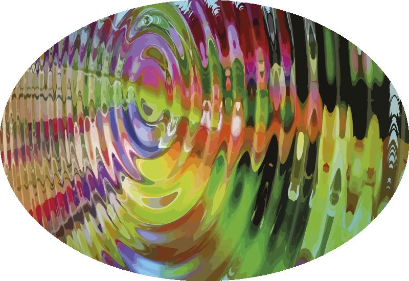 TenStickers. Tapetes contemporâneos multicores concêntricos. Tapete moderno multi colorido concêntrico para adicionar aquele toque colorido adorável em seu espaço. O tapete é desenhado em uma forma irregular com padrões de ilusão