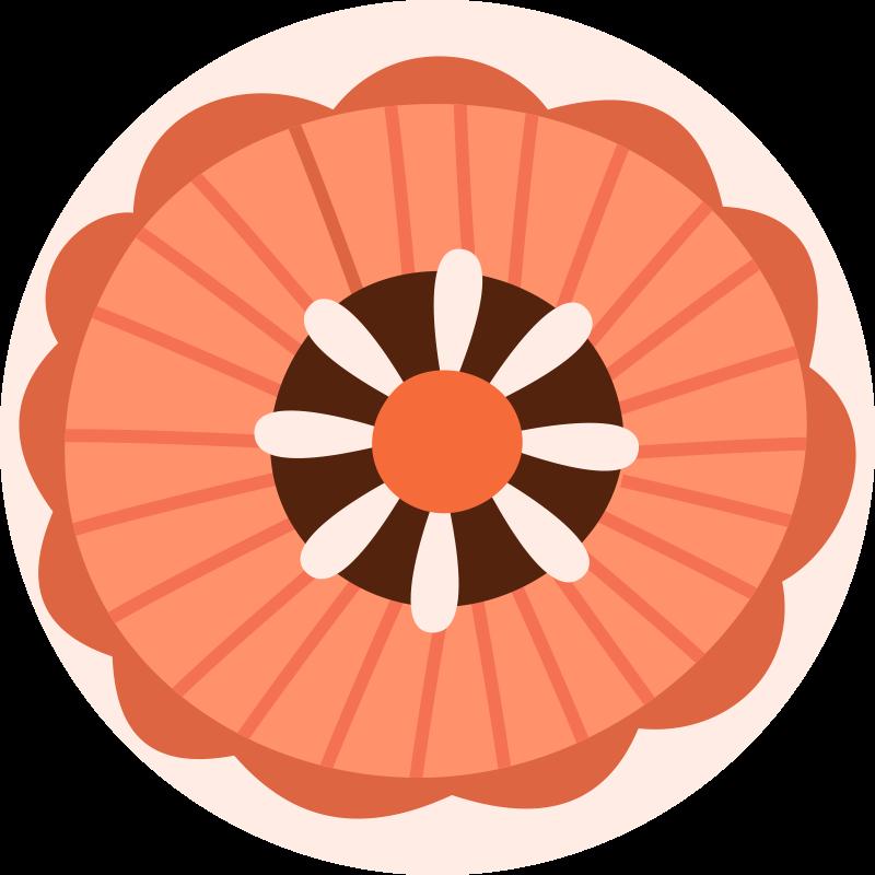 TenVinilo. Alfombra vinilo redonda floral escandinava. ¡Alfombra vinilo redonda de estilo nórdico redondo floral de colores mate, asombrosa y brillante! Elige tus medidas ¡Envío exprés!