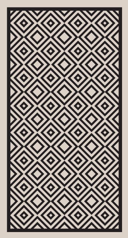TenVinilo. Alfombra vinílica mosaico cuadrados minimalistas. Alfombra vinílica mosaico vintage con cuadrados minimalistas de color blanco y negro para  decorar tu casa ¡Descuentos disponibles!