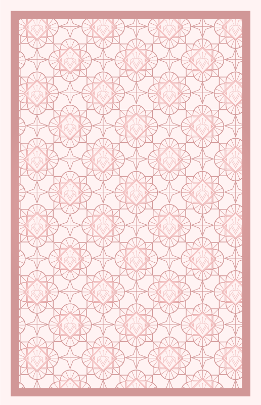 TenVinilo. Alfombra vinilo mosaico tonos rosas. Fantástica alfombra vinilo mosaico de color rosa para que decores el cuarto de tu hija de forma bonita ¡Descuentos disponibles!