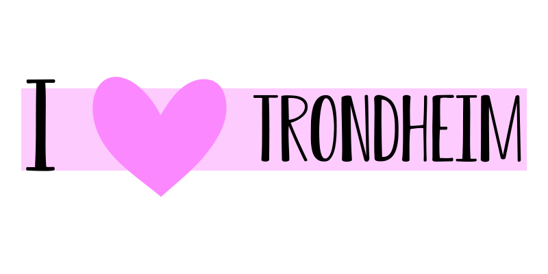 """TenStickers. I love Trondheim city heart nordic style rugs. A vinyl carpet with the illustration of the text """"I love Trondheim"""" ideal for you to decorate the floor of any space in your home or yuor office."""