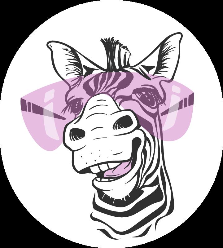 TenStickers. Dywan winylowy z zabawnym motywem zebry. Zabawny dywan winylowy ze zwierzęcym nadrukiem zebry, ma bardzo oryginalną i nowoczesną podłogę winylową do sypialni! Na co czekasz? Zamów go dziś!