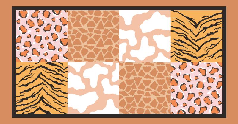 TenVinilo. Alfombra vinilo azulejos estampados animales. ¡Ilumina tu habitación con esta increíble alfombra vinilo azulejos de estampados de animales! Ideal para cocina, baño o habitación.
