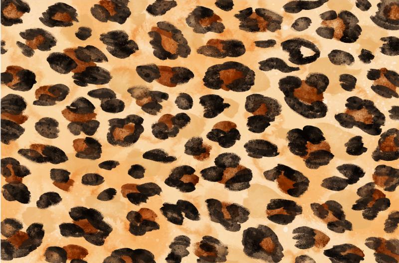 TenStickers. Dywan winylowy z nadrukiem skóry geparda. Dywan winylowy ze zwierzęcym nadrukiem ze skóry geparda - na pewno spodoba ci się ten produkt w Twojej przestrzeni domowej, doda to elegancji i klasy!