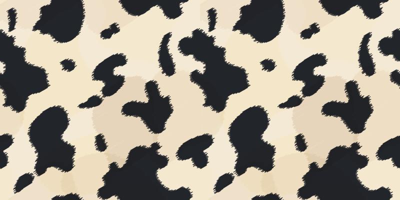 TenVinilo. Alfombra vinilo animal print redonda de vaca. Alfombra vinilo animal print con textura de vaca blanca: imita la piel de una vaca y te encantará disfrutar de un diseño exclusivo ¡Elige medidas!
