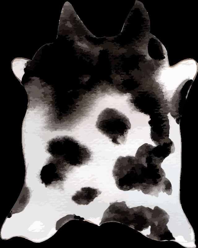 TenVinilo. Alfombra vinilo animal print vaca occidental. ¡Todos tus amigos y familiares estarán tan celosos de tu nueva pieza de decoración con esta alfombra vinilo animal print de piel de vaca!