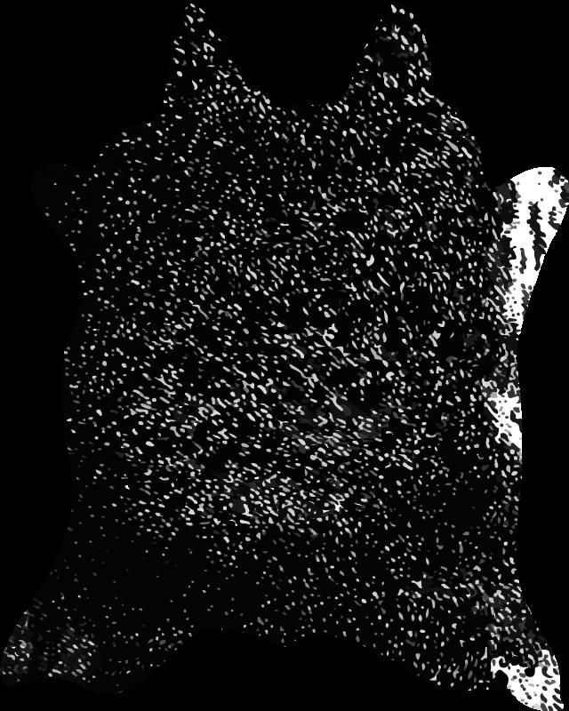 TenStickers. Tapete de vaca preta com estampa animal. Este adorável tapete de vinil de animais certamente trará muito mais luz ao seu ambiente! Entrega mundial está disponível para este produto incrível.