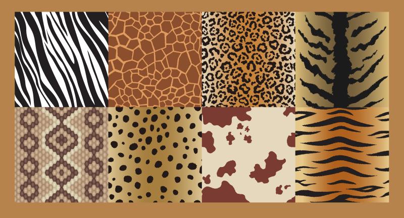 TenVinilo. Alfombra vinilo animal print azulejos de piel. ¡Alfombra vinilo animal print decorativa perfecta tiene un diseño único y genial de azulejos con pieles para dar más energía a tu casa!