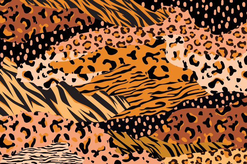 TenVinilo. Alfombra vinilo animal print tigre y leopardo. Cambie la decoración de su lugar con nuestra alfombra vinilo animal print con estampado de tigre y leopardo ¡Envío exprés a domicilio!