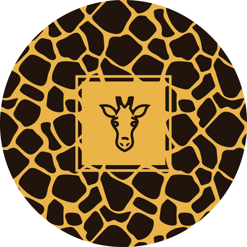 TenStickers. Dywan winylowy ze zwierzęcym nadrukiem w żyrafę. Ten uroczy dywan vinyle w żyrafę będzie idealny do Twojego salonu. Wprowadź dziki akcent do dekoracji swojego przestrzeni i poczuj się jak na sawannie