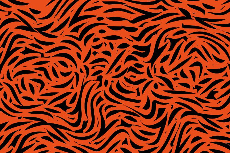 TenVinilo. Alfombra vinilo animal print tigre rojo . Alfombra vinilo animal con motivo de tigre con un diseño clásico. La decoración única de su habitación impresionará a sus invitados ¡Envío exprés!