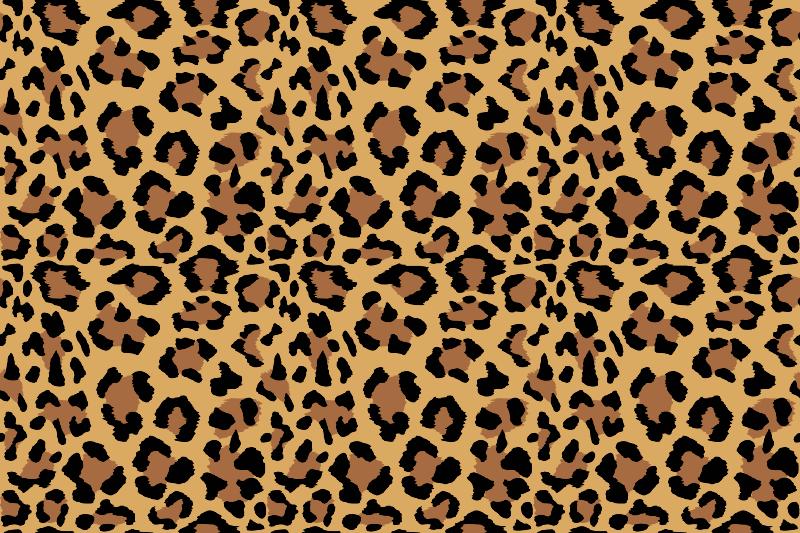 TenStickers. Dywan winylowy do gabinetu Duży tygrys. Ten zwierzęcy dywan winylowy inspirowany tygrysem ma brązowe i czarne plamy na nagim, jasnobrązowym tle. Dostawa do domu dostępna!