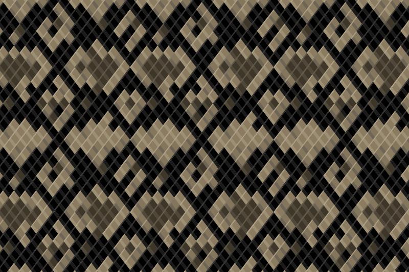 TenStickers. Yılan tasarımı hayvan baskı vinil halı. Bu özel hayvan vinil kilim, yılana benzeyen kahverengi renklerde grafik stilindedir. Arka plan siyah! Eve teslim için uygun!