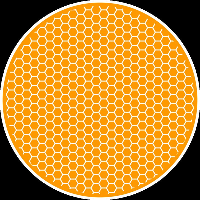 TenVinilo. Alfombra vinilo texturas panel miel. Alfombra vinilo texturas que presenta un patrón de hexágonos dorados con un contorno blanco y blanco, lo que hace que parezca un panal de miel.