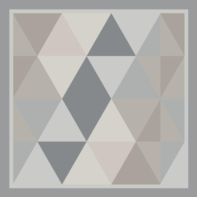 TenVinilo. Alfombra vinilo triángulos pantone grises. Echa un vistazo a esta moderna alfombra vinilo geométrica llena de triángulos en diferentes tonalidades de color gris ¡Elige tus medidas!