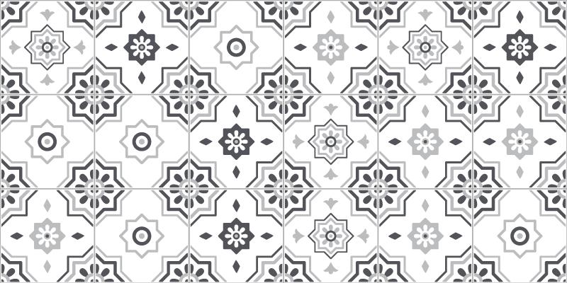 TenVinilo. Alfombras vinilo hidráulica pantone gris. Alfombra vinilo hidráulica de azulejos pantone gris: se puede colocar en el lugar del baño, la sala de estar, el comedor y cocina ¡Envío exprés!