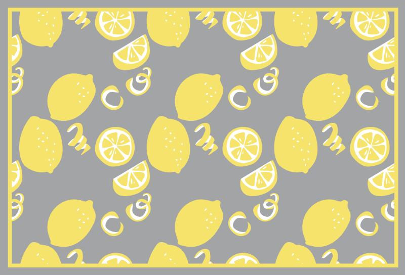 TenVinilo. Alfombra vinilo cocina limones pantone. Una increíble alfombra vinilo cocina pantone de limones para hacer que la cocina parezca agradable y encantadora ¡Envío exprés!