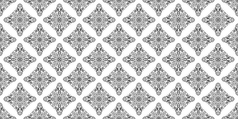 TenVinilo. Alfombras vinilo hidráulica gris claro amalfi. Alfombra vinilo hidráulica con efecto gris amalfi basada en un fondo blanco con formas grises de mandala creando un efecto único ¡Envío exprés!