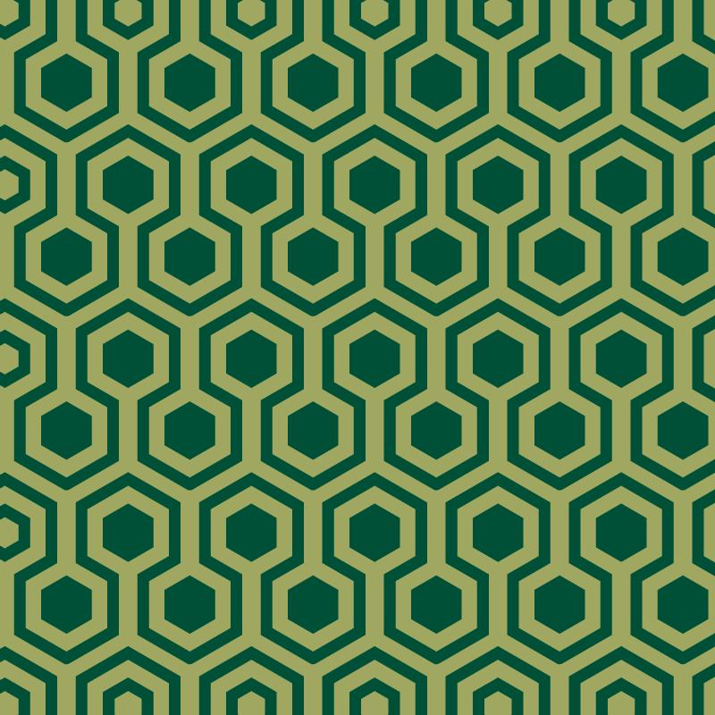 TenVinilo. Alfombras vinilo geométrica hexágonos verdes. Alfombra vinilo geométrica de formas verdes vintage: agregue un aspecto encantador y atención a su hogar ¡Descuentos disponibles!