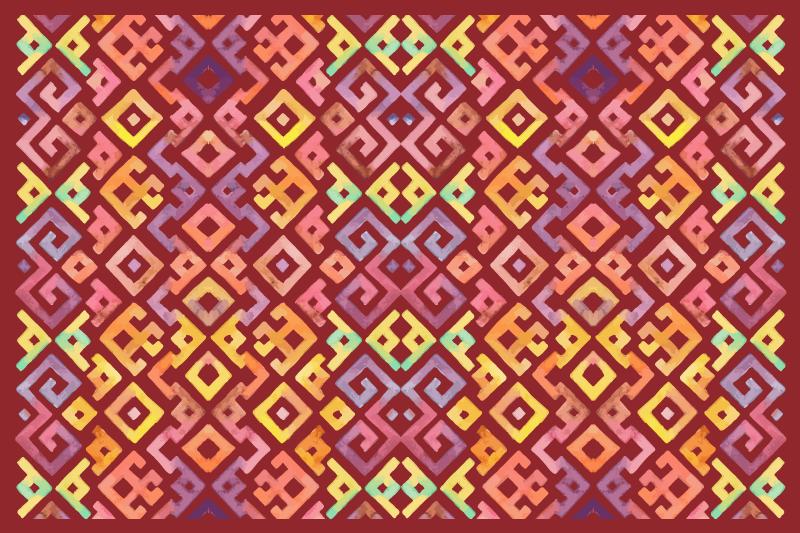 TenVinilo. Alfombras vinilo azulejos rojos mexicanos. Una alfombra vinilo azulejos rojos mexicanos para su hogar: Dé un toque y efecto clásico a su lugar con nuestro diseño único ¡Envío exprés!