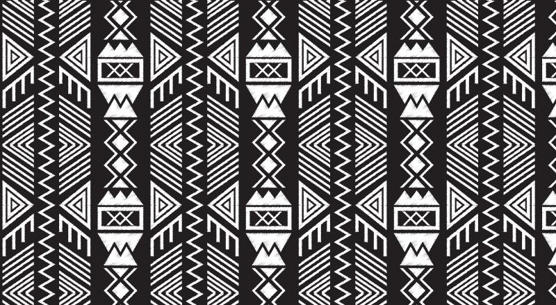 TenVinilo. Alfombra vinilo geométrica azteca oscura. Alfombra vinilo geométrica azteca oscuro para la decoración de tu hogar y también de tu oficina. Elige tus medidas ¡Fácil de mantener!