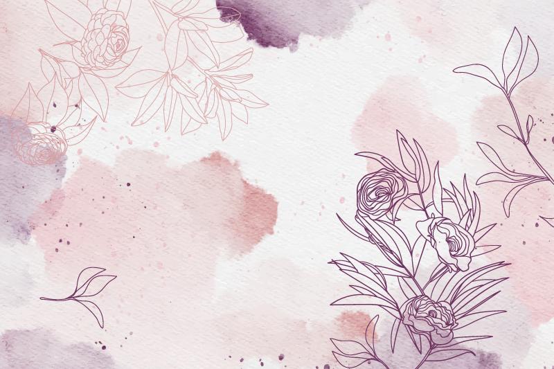 TenVinilo. Alfombra vinílica étnica sutiles flores en colores pastel. Alfombra de vinilo para baño se basa en un fondo blanco con delicadas y suaves flores por todas partes en colores rosa pastel y violeta. ¡Comprala ya!