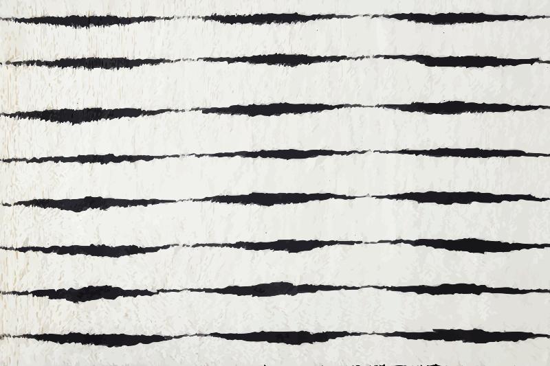 TenStickers. Tapetes de vinil de fiorde preto estilo nórdico. Este tapete de vinil para sala de estar tem como base um fundo claro que parece vidro com pequenas formas pretas por toda parte. Escolha os tamanhos! Entrega ao domicílio!