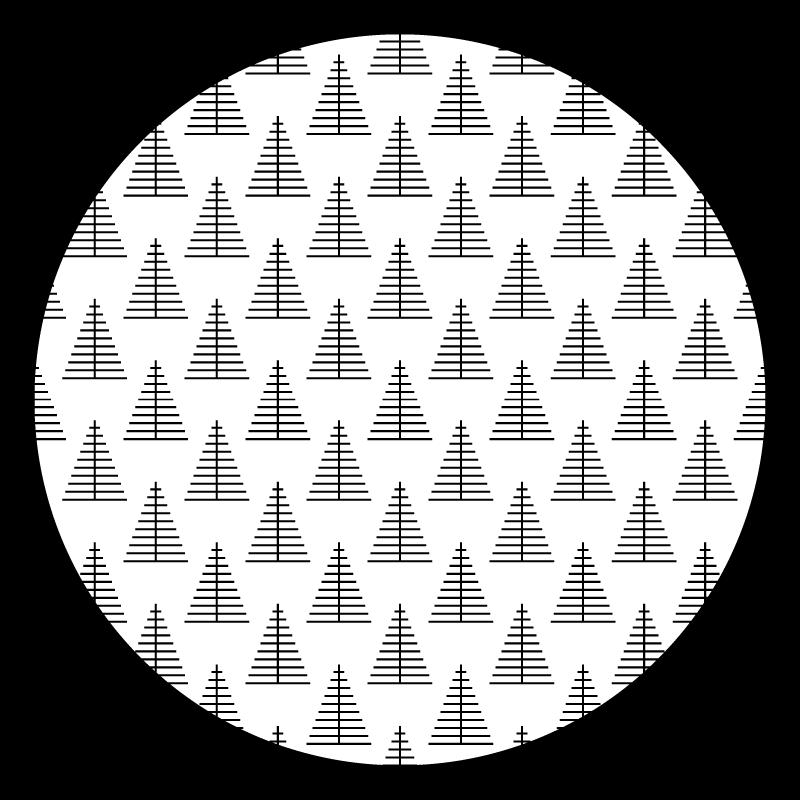 TenVinilo. Alfombra vinilo cocina árboles nórdicos. Esta alfombra vinilo cocina se basa en un fondo blanco como la nieve con un marco negro y árboles del bosque geométricos negros ¡Envío exprés!
