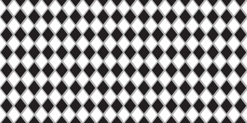 TenStickers. Podłogi kuchenne winylowe w czarne i białe romby. Płytki podłogowe do kuchni w czarno-białe romby z naszej kolekcji wykładzin podłogowych we wzór płytek. Nadaje się do dekoracji każdej przestrzeni.