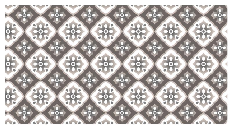 TenVinilo. Alfombras vinilo azulejos grises portugueses. Esta moderna alfombra vinilo azulejos está hecha de patrones tradicionales portugueses en colores gris y blanco creando un efecto de mosaico.