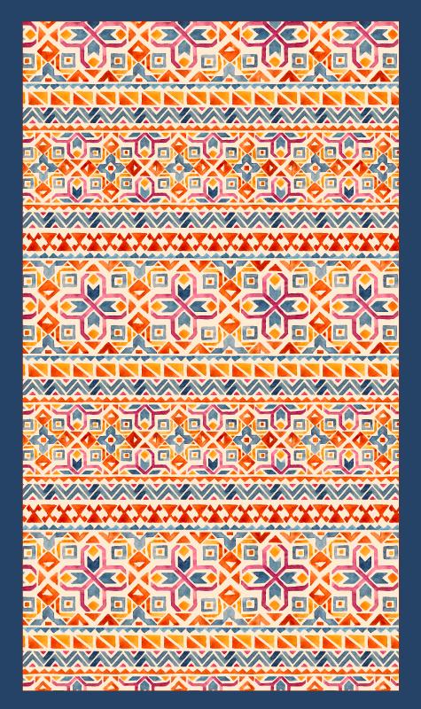 TenVinilo. Alfombra vinilo cocina patrón cálido étnico. Combinando originalidad y etnia te ofrecemos esta impresionante alfombra vinilo cocina de patrón étnico con tonos cálidos ¡Envío exprés!
