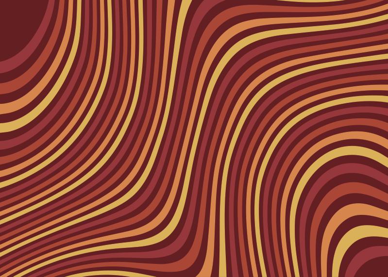 TenStickers. 70年代流行彩虹波复古地毯. 您将能够做您需要做的一切!所有这些都因为这块pvc地毯,您会感到上进和放松!