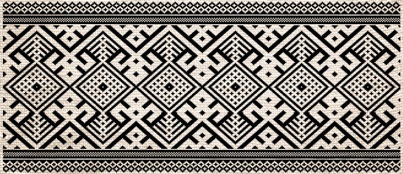 TenVinilo. Alfombra vinílica étnica damalia blanco y negro. Deja que tus deseos hablen y compra esta hermosa alfombra vinílica étnica damalia en blanco y negro. Elige medidas ¡Envío exprés!
