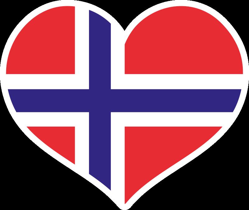 TenStickers. 美丽的挪威心民族风格地毯. 这款令人惊叹的心形地板地毯在挪威国旗的彩色插图中,可为任何空间增添可爱的外观和触感。