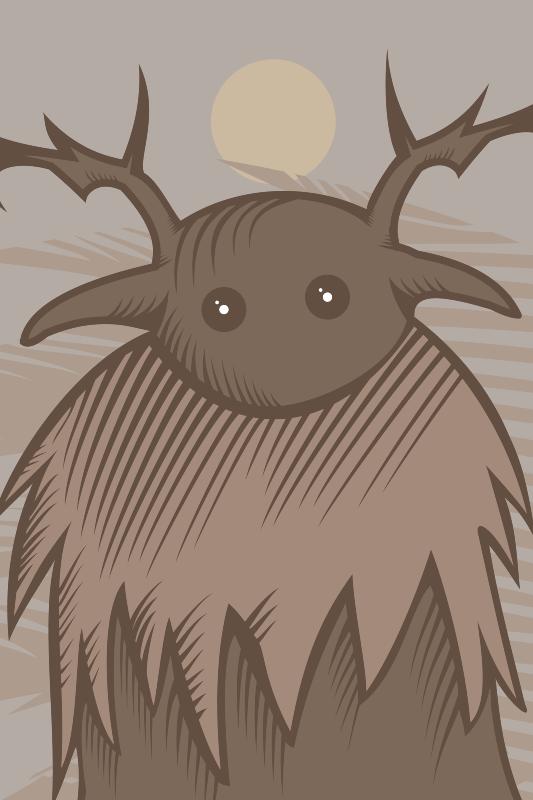 TenStickers. Tapetes de estilo étnico kittelsen troll. Este impressionante tapete étnico viking é a compra perfeita que temos certeza de que você vai adorar! Peça este produto original agora!