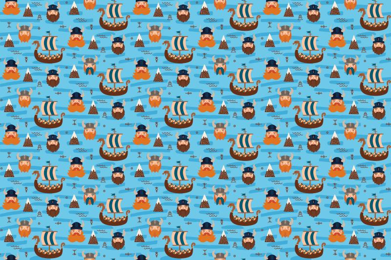 TenVinilo. Alfombra vinílica étnica vikingos y barcos. ¡Esta increíble alfombra vinilo azul seguramente traerá mucha más luz a tu habitación! Entrega a domicilio si pides este producto original ahora.