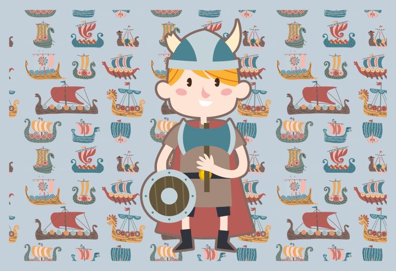 TenVinilo. Alfombra vinílica étnica dibujo barco vikingo. Esta alfombra de vinilo barcos vikingos étnicos de aspecto muy lindo durará mucho tiempo en su hogar! ¡compra este bonito producto! ¡pídelo ahora!