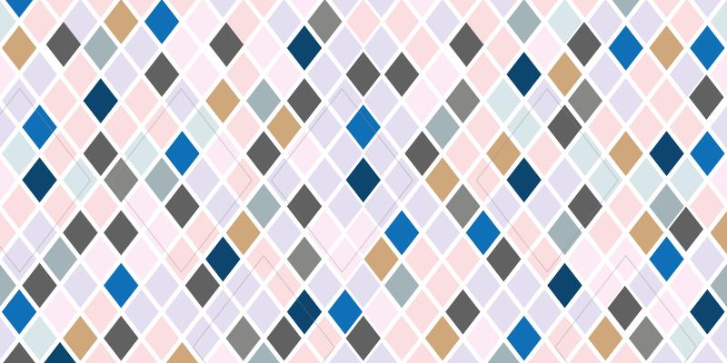 TenVinilo. Alfombra vinilo nórdica azulejos multicolor. Una alfombra vinilo nórdica con múltiples azulejos pequeños multicolor para que decores cualquier estancia del hogar ¡Envío exprés!