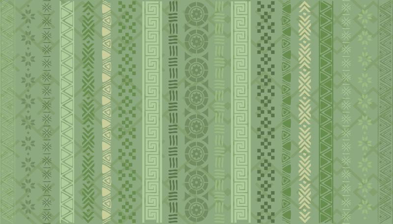 TenVinilo. Alfombra vinílica efecto mosaico rompecabezas en verde. Alfombra de vinilo baldosas mosaico verde para la decoración de su hogar y otros lugares. es duradero, fácil de limpiar y antideslizante.