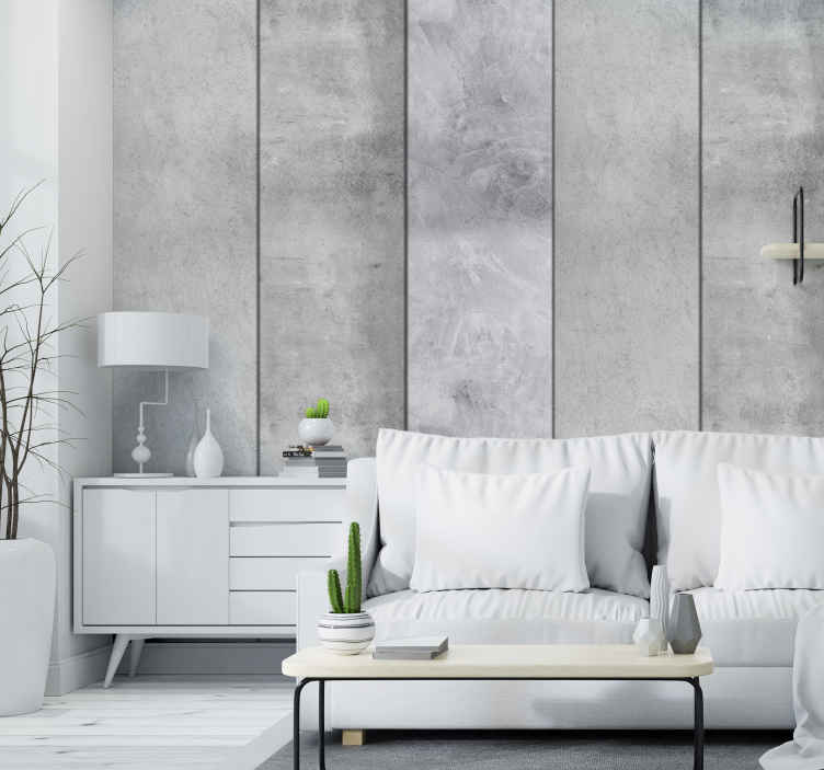 TenStickers. Gray Pigeon Textured Wallpaper. Add a modern and sophisticated touch to your living or dining room with this grey wallpaper that imitates gray stone. Easy to apply.