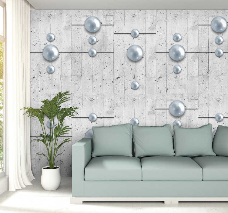 TenStickers. Textured Wallpaper Unusual Ornament. This unusual 3d bedroom wallpaper will make your rooms look interesting and will show your creativity. You can place them in hallway, living room.