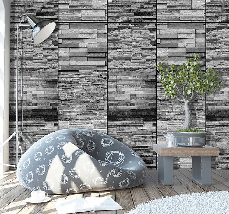 TenStickers. Grey Stones Texture Wallpaper. Add some stunning stone wallpaper to your home with this superb design depicting a great amount of grey stones! Easy to apply.